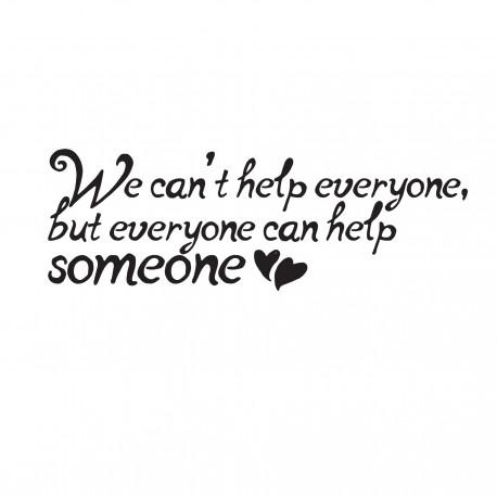 Everyone can help