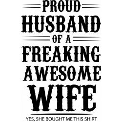 Tricou personalizat Proud husband