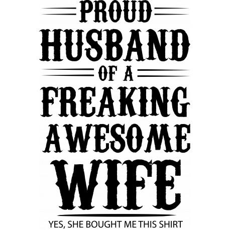 Tricou personalizat Proud wife