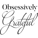 Tricou personalizat Obsesively Grateful
